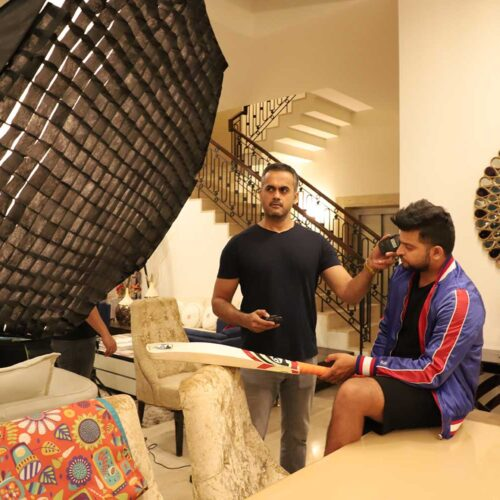 Shoot with International Cricketer Suresh Raina for a magazine in his home in delhi
